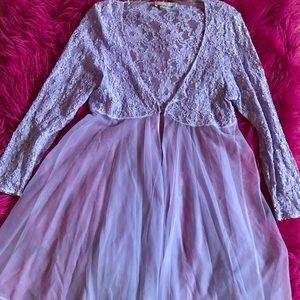 Other - Vintage Lavender violet babydoll lace chiffon